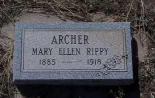 ARCHER, MARY ELLEN - Apache County, Arizona | MARY ELLEN ARCHER - Arizona Gravestone Photos
