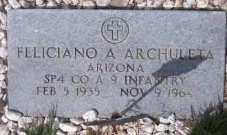ARCHULETA, FELICIANO A. - Apache County, Arizona | FELICIANO A. ARCHULETA - Arizona Gravestone Photos