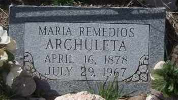 REMEDIOS ARCHULETA, MARIA - Apache County, Arizona | MARIA REMEDIOS ARCHULETA - Arizona Gravestone Photos