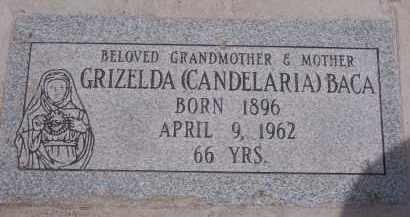 BACA, GRIZELDA - Apache County, Arizona | GRIZELDA BACA - Arizona Gravestone Photos