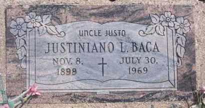 BACA, JUSTINIANO L. - Apache County, Arizona | JUSTINIANO L. BACA - Arizona Gravestone Photos