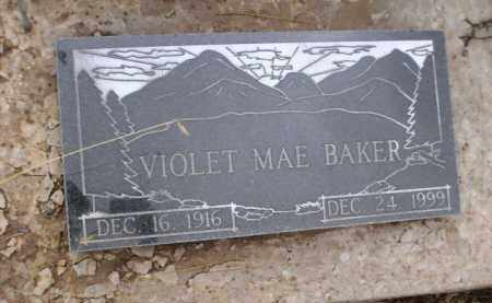 BAKER, VIOLET MAE - Apache County, Arizona   VIOLET MAE BAKER - Arizona Gravestone Photos