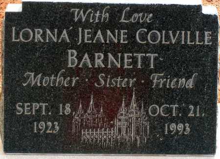 BARNETT, LORNA JEANE - Apache County, Arizona | LORNA JEANE BARNETT - Arizona Gravestone Photos