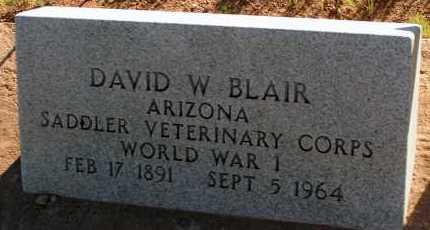 BLAIR, DAVID W. - Apache County, Arizona | DAVID W. BLAIR - Arizona Gravestone Photos