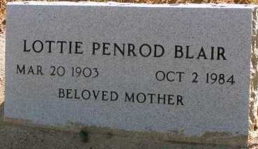 BLAIR, LOTTIE - Apache County, Arizona | LOTTIE BLAIR - Arizona Gravestone Photos