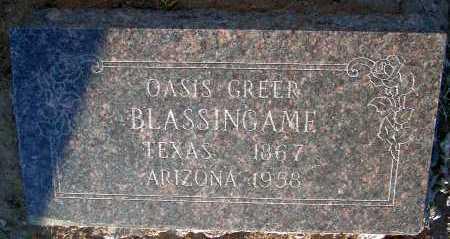 GREER BLASSINGAME, OASIS - Apache County, Arizona | OASIS GREER BLASSINGAME - Arizona Gravestone Photos
