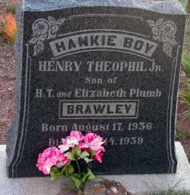 BRAWLEY, HENRY THEOPHIL, JR. - Apache County, Arizona | HENRY THEOPHIL, JR. BRAWLEY - Arizona Gravestone Photos