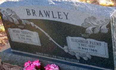 PLUMB BRAWLEY, ELIZABETH - Apache County, Arizona | ELIZABETH PLUMB BRAWLEY - Arizona Gravestone Photos