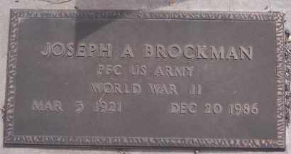 BROCKMAN, JOSEPH A - Apache County, Arizona | JOSEPH A BROCKMAN - Arizona Gravestone Photos