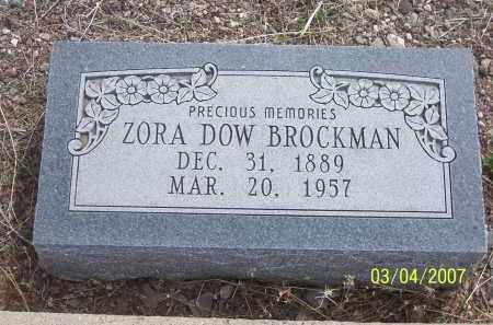 DOW BROCKMAN, ZORA - Apache County, Arizona | ZORA DOW BROCKMAN - Arizona Gravestone Photos