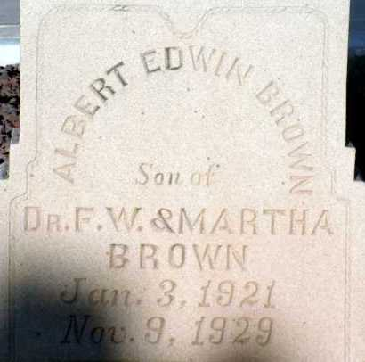 BROWN, ALBERT EDWIN - Apache County, Arizona | ALBERT EDWIN BROWN - Arizona Gravestone Photos