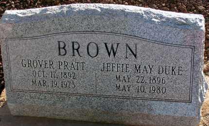 DUKE BROWN, JEFFIE MAY - Apache County, Arizona | JEFFIE MAY DUKE BROWN - Arizona Gravestone Photos