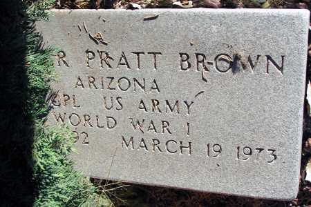 BROWN, GROVER PRATT - Apache County, Arizona | GROVER PRATT BROWN - Arizona Gravestone Photos