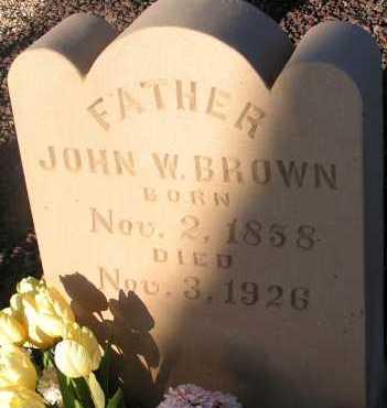 BROWN, JOHN W. - Apache County, Arizona | JOHN W. BROWN - Arizona Gravestone Photos
