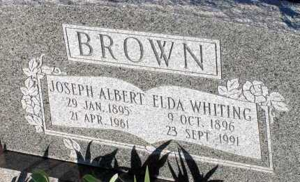 BROWN, JOSEPH ALBERT - Apache County, Arizona | JOSEPH ALBERT BROWN - Arizona Gravestone Photos