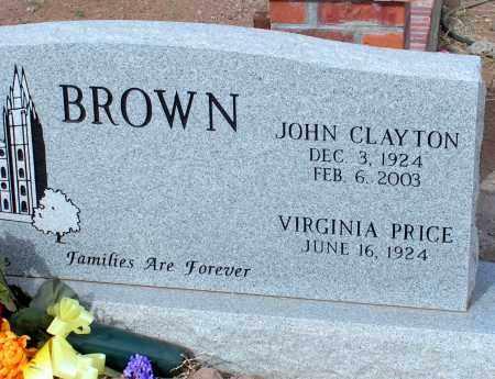 BROWN, VIRGINIA - Apache County, Arizona | VIRGINIA BROWN - Arizona Gravestone Photos