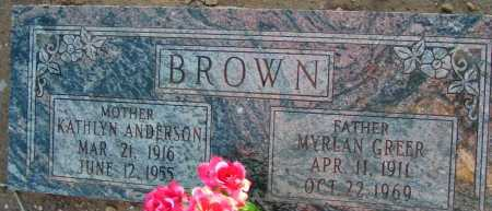 ANDERSON BROWN, KATHLYN - Apache County, Arizona | KATHLYN ANDERSON BROWN - Arizona Gravestone Photos