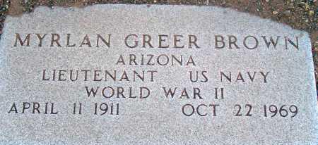 BROWN, MYRLAN GREER - Apache County, Arizona | MYRLAN GREER BROWN - Arizona Gravestone Photos