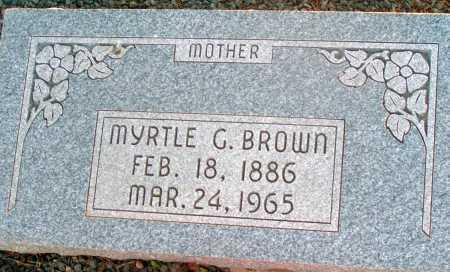 BROWN, MYRTLE G. - Apache County, Arizona | MYRTLE G. BROWN - Arizona Gravestone Photos