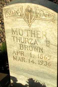 BROWN, THURZA B. - Apache County, Arizona | THURZA B. BROWN - Arizona Gravestone Photos