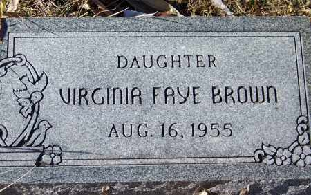 BROWN, VIRGINIA FAYE - Apache County, Arizona | VIRGINIA FAYE BROWN - Arizona Gravestone Photos