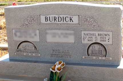 BURDICK, NATHEL - Apache County, Arizona | NATHEL BURDICK - Arizona Gravestone Photos