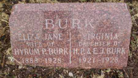 BURK, VIRGINIA - Apache County, Arizona | VIRGINIA BURK - Arizona Gravestone Photos