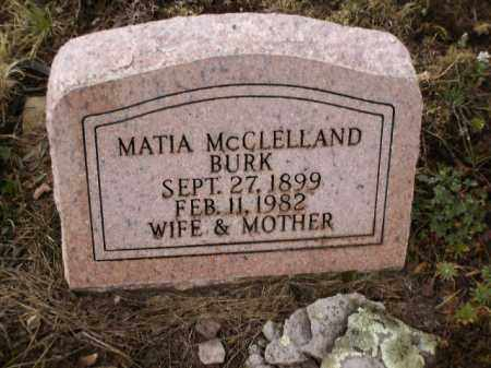 MCCLELLAND BURK, MATIA - Apache County, Arizona | MATIA MCCLELLAND BURK - Arizona Gravestone Photos
