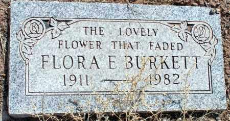 BURKETT, FLORA E. - Apache County, Arizona | FLORA E. BURKETT - Arizona Gravestone Photos
