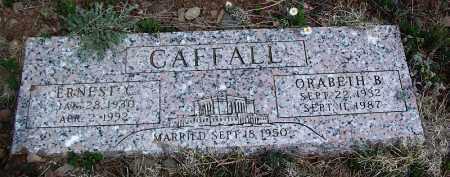 CAFFALL, ERNEST C - Apache County, Arizona | ERNEST C CAFFALL - Arizona Gravestone Photos