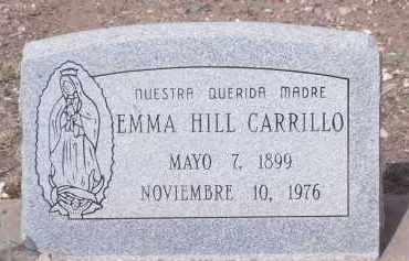 HILL CARRILLO, EMMA - Apache County, Arizona | EMMA HILL CARRILLO - Arizona Gravestone Photos