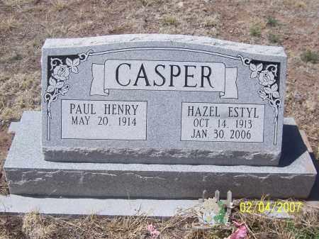 CASPER, HAZEL ESTYL - Apache County, Arizona | HAZEL ESTYL CASPER - Arizona Gravestone Photos