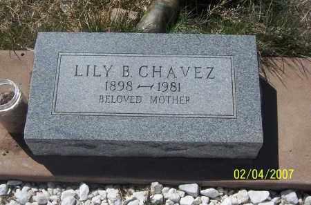 CHAVEZ, LILY B. - Apache County, Arizona | LILY B. CHAVEZ - Arizona Gravestone Photos