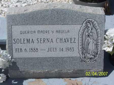 CHAVEZ, SOLEMA SERNA - Apache County, Arizona   SOLEMA SERNA CHAVEZ - Arizona Gravestone Photos