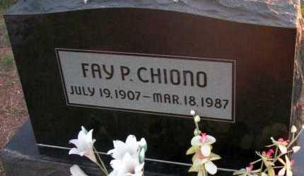 CHIONO, FAY P. - Apache County, Arizona | FAY P. CHIONO - Arizona Gravestone Photos