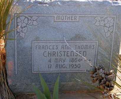 THOMAS CHRISTENSEN, FRANCES ANN - Apache County, Arizona | FRANCES ANN THOMAS CHRISTENSEN - Arizona Gravestone Photos