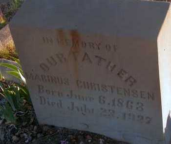 CHRISTENSEN, MARINUS - Apache County, Arizona | MARINUS CHRISTENSEN - Arizona Gravestone Photos