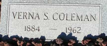 COLEMAN, VERNA S. - Apache County, Arizona | VERNA S. COLEMAN - Arizona Gravestone Photos