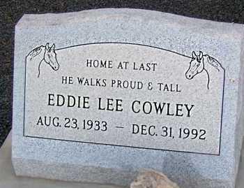 COWLEY, EDDIE LEE - Apache County, Arizona   EDDIE LEE COWLEY - Arizona Gravestone Photos