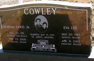 COWLEY, GRAH AM LEWIS, JR. - Apache County, Arizona | GRAH AM LEWIS, JR. COWLEY - Arizona Gravestone Photos