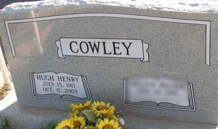 COWLEY, HUGH HENRY - Apache County, Arizona | HUGH HENRY COWLEY - Arizona Gravestone Photos