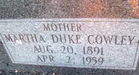 DUKE COWLEY, MARTHA - Apache County, Arizona | MARTHA DUKE COWLEY - Arizona Gravestone Photos