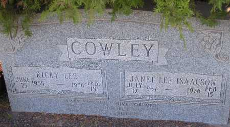 ISAACSON COWLEY, JANET LEE - Apache County, Arizona | JANET LEE ISAACSON COWLEY - Arizona Gravestone Photos
