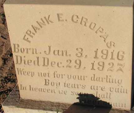CROPAS, FRANK E. - Apache County, Arizona | FRANK E. CROPAS - Arizona Gravestone Photos