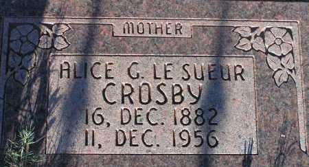 LESUEUR CROSBY, ALICE G. - Apache County, Arizona | ALICE G. LESUEUR CROSBY - Arizona Gravestone Photos