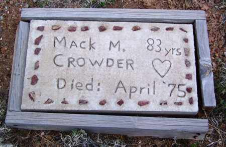 CROWDER, MACK M - Apache County, Arizona | MACK M CROWDER - Arizona Gravestone Photos