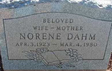 DAHM, NORENE - Apache County, Arizona | NORENE DAHM - Arizona Gravestone Photos