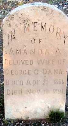 DANA, AMANDA A. - Apache County, Arizona | AMANDA A. DANA - Arizona Gravestone Photos