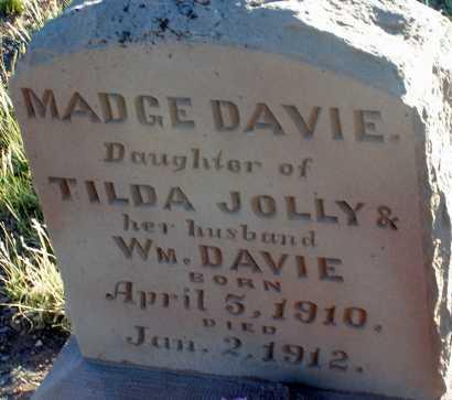 DAVIE, MADGE - Apache County, Arizona | MADGE DAVIE - Arizona Gravestone Photos