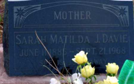 DAVIE, SARAH MATILDA - Apache County, Arizona | SARAH MATILDA DAVIE - Arizona Gravestone Photos